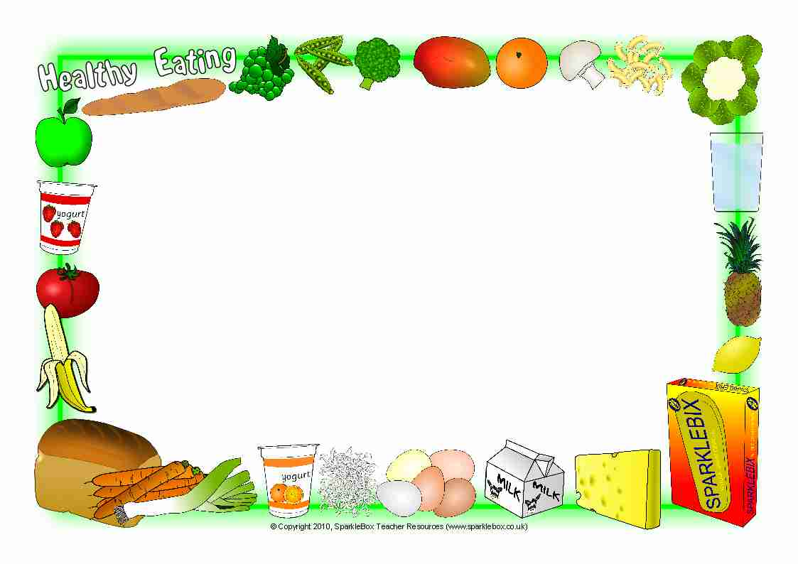 Healthy Eating A4 Page Borders Sb2992 Sparklebox