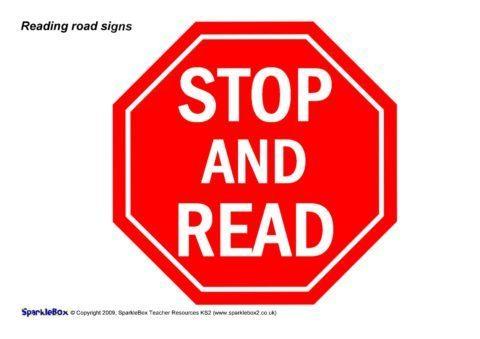 Reading Road Signs Set (SB6229) - SparkleBox