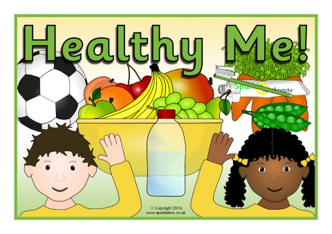 Healthy Me Display Poster (SB10201) - SparkleBox