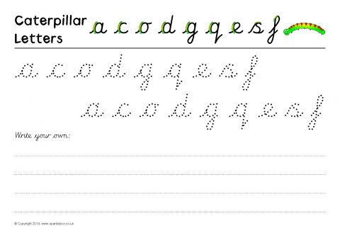letter formation practise sheets cursive sb10203 sparklebox. Black Bedroom Furniture Sets. Home Design Ideas