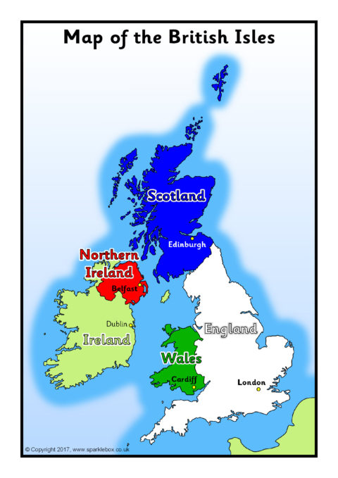 A4 Maps Of The Uk And British Isles Sb11916 Sparklebox