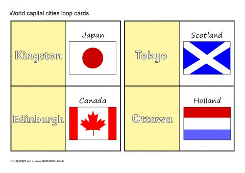 Teaching resources about countries continents for primary world capital cities loop cards sb7420 publicscrutiny Choice Image