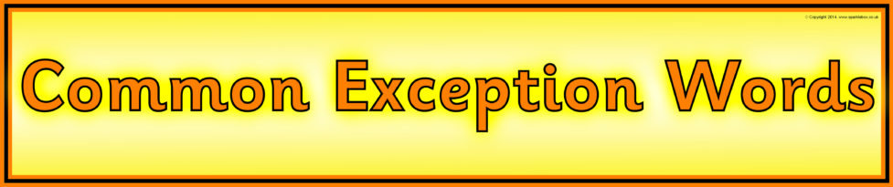 Image result for common exception words banner