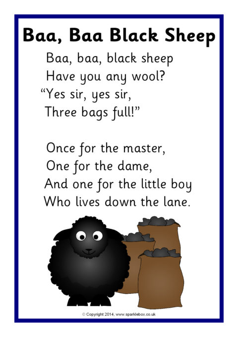 Image result for sparklebox baa baa black sheep