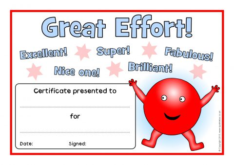 Primary school award certificates printables sparklebox general effort certificates sb9304 view preview yelopaper Gallery