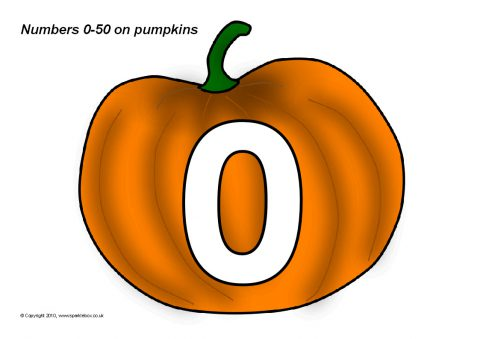 Numbers 0 50 On Pumpkins Sb3036 Sparklebox