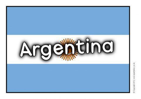 Argentina Flag A4 Size