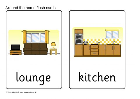 Inside and Outside the Home Flash Cards (SB8002) - SparkleBox