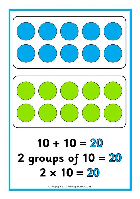 Repeated Addition Arrays Posters 20 50 Sb8009 Sparklebox