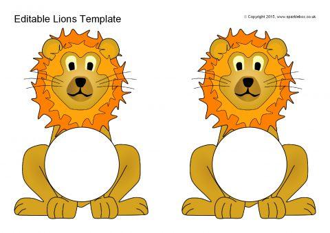 Editable Lions Template Sb11085 Sparklebox