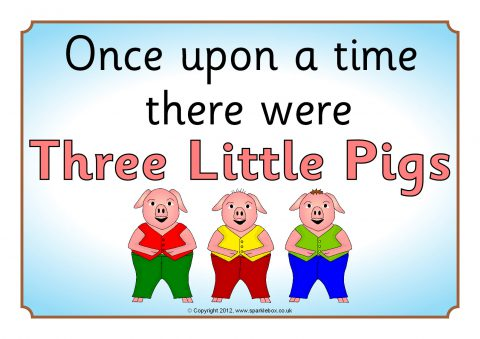 Playful image pertaining to three little pigs printable story
