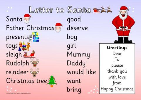 Letter to santa word mat sb11799 sparklebox preview spiritdancerdesigns Images