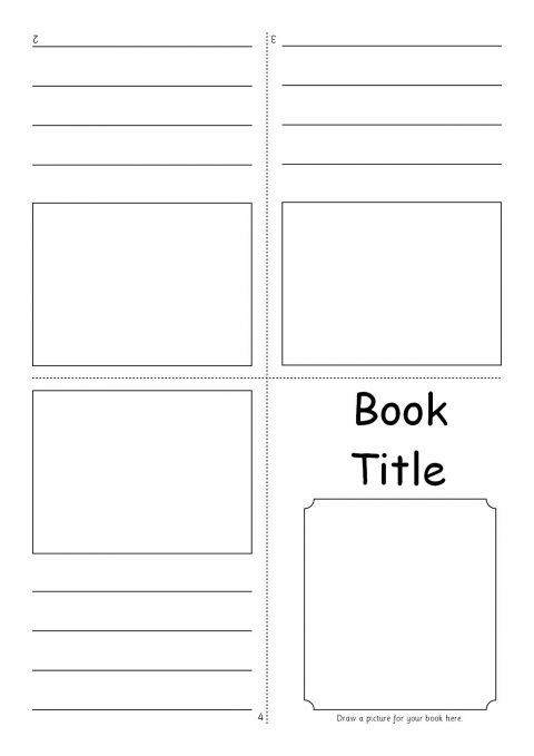 Editable fold over mini book templates sb7366 sparklebox for Foldable booklet template