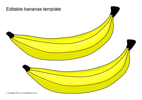 editable bananas template sb7966 sparklebox