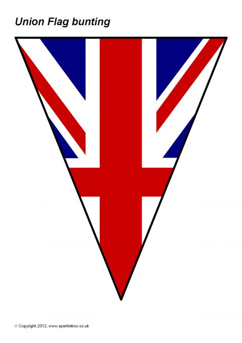graphic about Printable British Flag referred to as Union Flag Bunting (SB8117) - SparkleBox