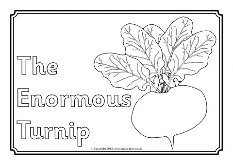 The enormous turnip colouring sheets sb9294 sparklebox for Turnip coloring page