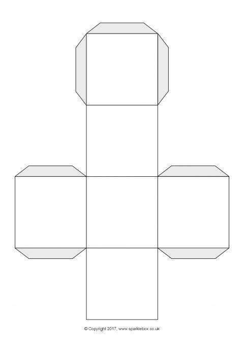 editable dice net cube net template sb12085 sparklebox