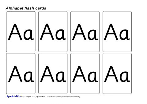 alphabet flash cards upper and lower case