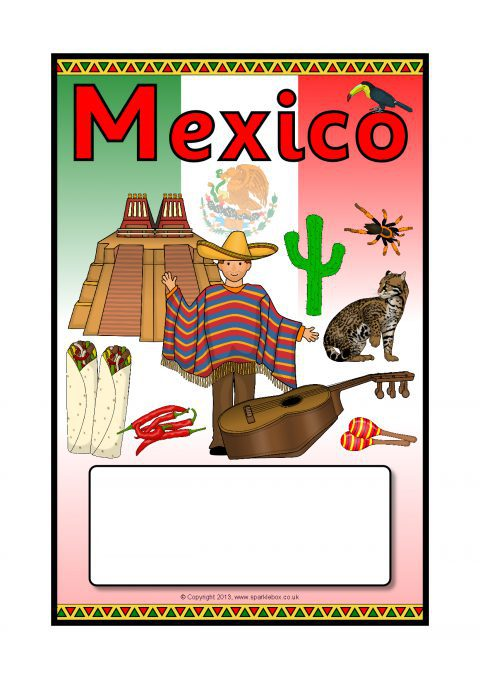 mexico editable topic book covers  sb9575