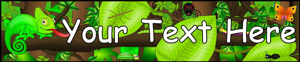 Editable Jungle Themed Banner Template Sb9533 Sparklebox