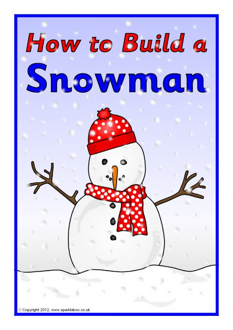 How to build a snowman instructions sb7148 sparklebox for How to make a snowman