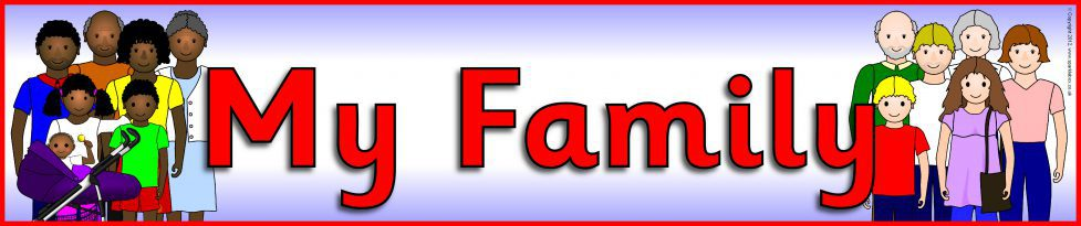 my family display banner  sb8952