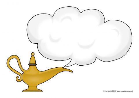 Aladdin Genie Lamp Template