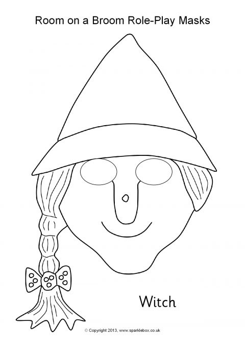 Free Printable Colour-In Role-Play Masks - SparkleBox