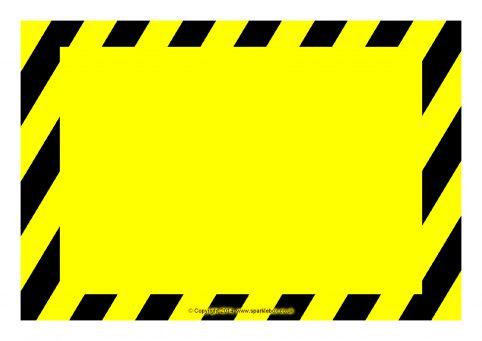 photograph regarding Sign Templates named Editable Caution / Risk Indicator Templates (SB10387) - SparkleBox