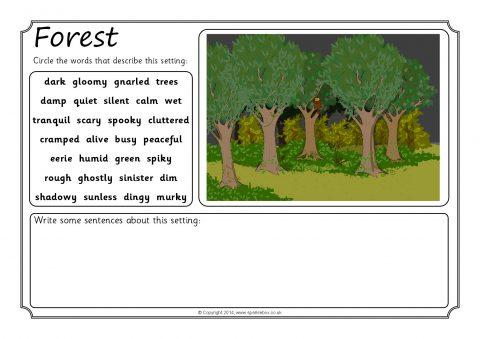 Story Setting Description Writing Frames (SB10392) - SparkleBox