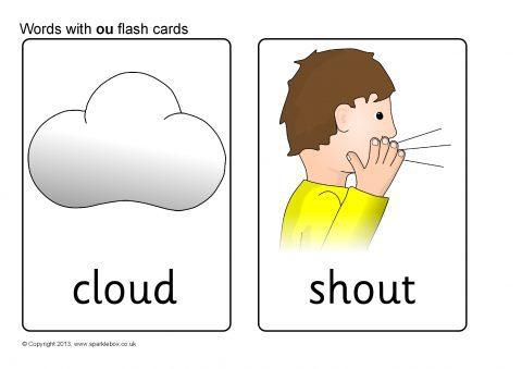 Words With Ou Flash Cards Sb10020 Sparklebox