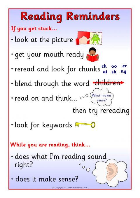 reading reminders desktop sheet  sb8711