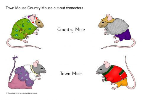 town mouse country mouse cut out characters sb8723 sparklebox. Black Bedroom Furniture Sets. Home Design Ideas
