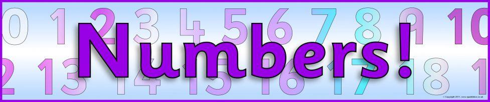Numbers Display Banner Sb5155 Sparklebox