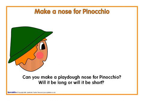 Pinocchio teaching resources story sack printables sparklebox pinocchios nose playdough mat sb2113 maxwellsz