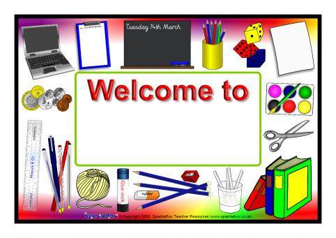 Editable Classroom Welcome Signs Sb6933 Sparklebox