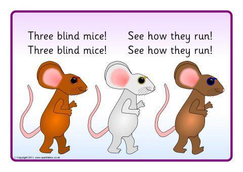 Three Blind Mice Visual Aids Sb672 Sparklebox