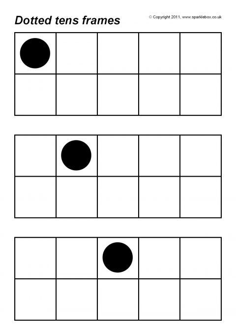 Dotted Tens Frames (SB4826) - SparkleBox