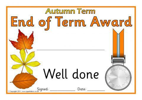 Editable End of Term Award Certificates (SB4487) - SparkleBox