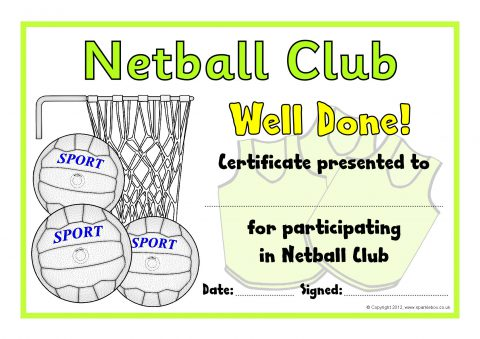 Primary Sports Award Certificates SparkleBox – Sport Certificate Templates for Word
