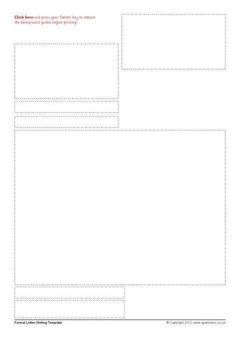 Editable Formal Letter Typing Frames Sb7946 Sparklebox