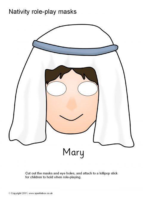 Nativity Role Play Masks Sb1112 Sparklebox