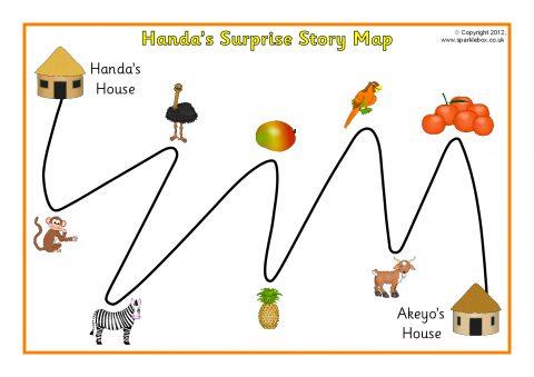 Handas Surprise Story Map SB9015 SparkleBox