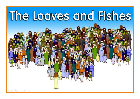 The loaves and fishes visual aids sb2822 sparklebox for Loaves and fishes bible story