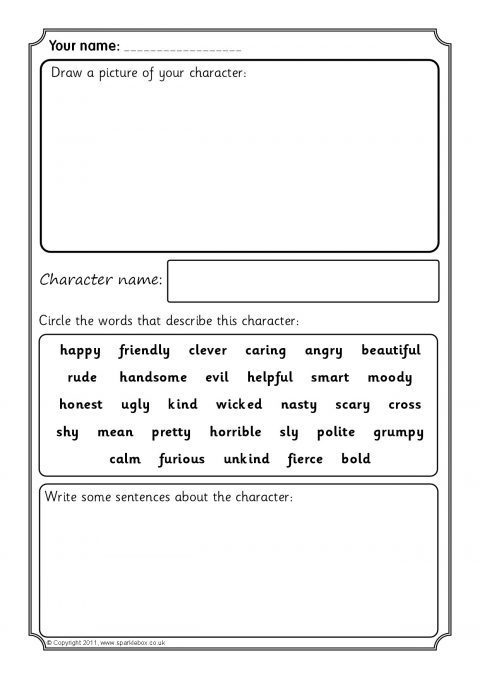 Writing a character profile ks2 bitesize