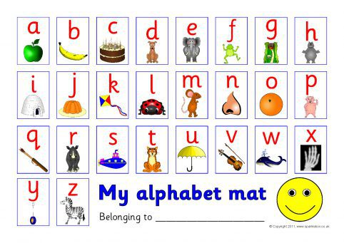 Alphabet Picture Mat (SB517) - SparkleBox