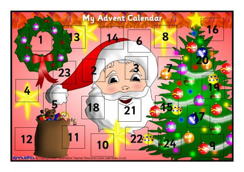Make Your Own A4 Sized Advent Calendar Sb1062 Sparklebox