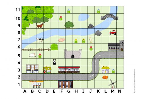 Ks2 key stage two coordinates teaching resources and printables coordinates map sb10417 gumiabroncs Choice Image