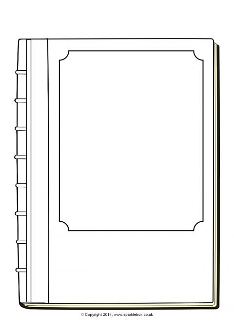 This is an image of Nifty Printable Book Template
