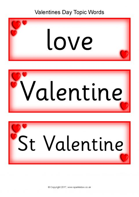 Valentines Day Teaching Resources  Printables for Primary